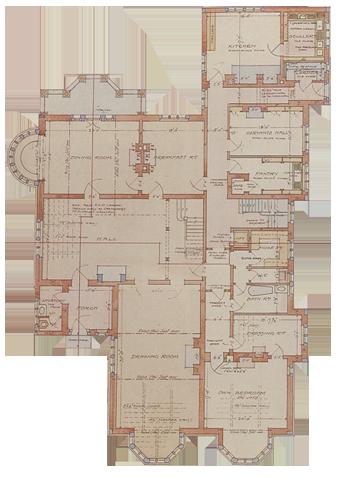 Olveston ground / reception floor.