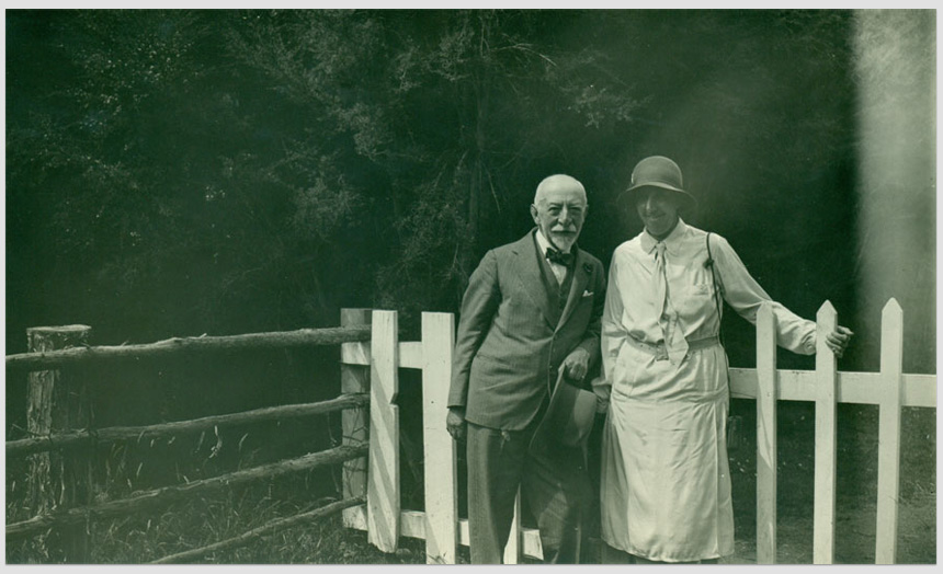 David Theomin in his later years with daughter Dorothy Theomin.