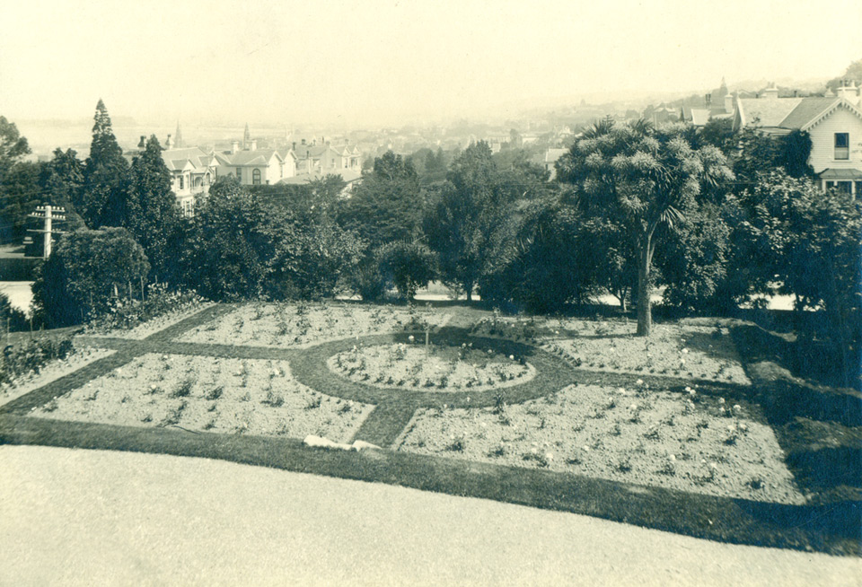 View of the Rose garden (C.M.Collins, NZ).
